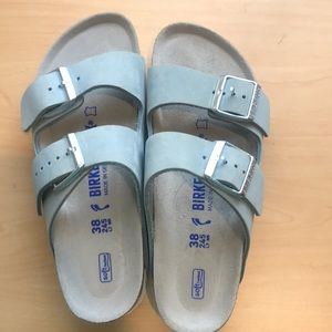 Blue birkenstocks women 7/7.5
